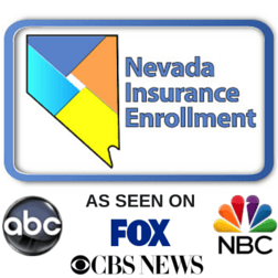 Logo for Nevada Insurance Enrollment. Insurance Agency in Las Vegas, NV. As seen on CBS News, NBC, FOX and ABC.