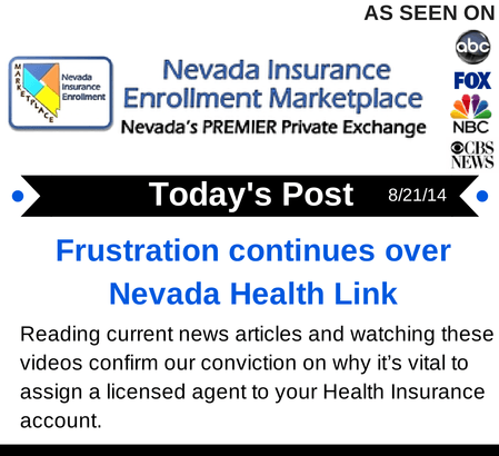 Post 8-21-14 | Frustration continues over Nevada Health Link