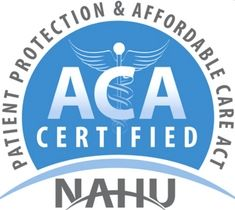 ACA Health Insurance Certification blue and white logo by NAHU