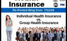 RePost - Individual Health Insurance vs. Group Health Insurance What's the Difference?