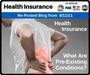 RePost - Health Insurance: What Are Pre-existing Conditions