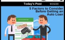 Post - 5 Factors to Consider Before Getting an Auto Loan